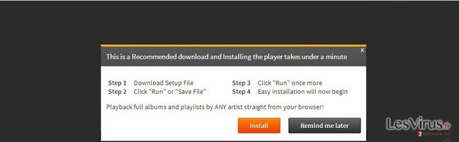 instantanea di Il virus 'Infected files have corrupted your Flash Player'