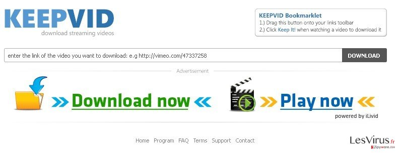 instantanea di KeepVid.com
