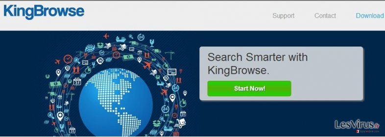 instantanea di Gli annunci commerciali di KingBrowse Deals e KingBrowse