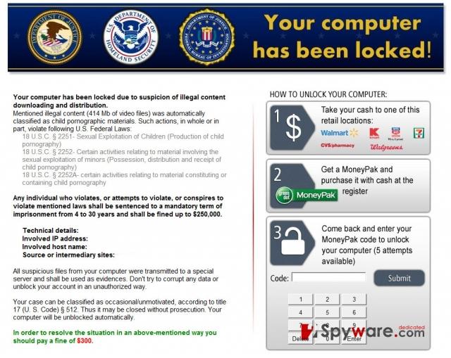 instantanea di Kovter ransomware