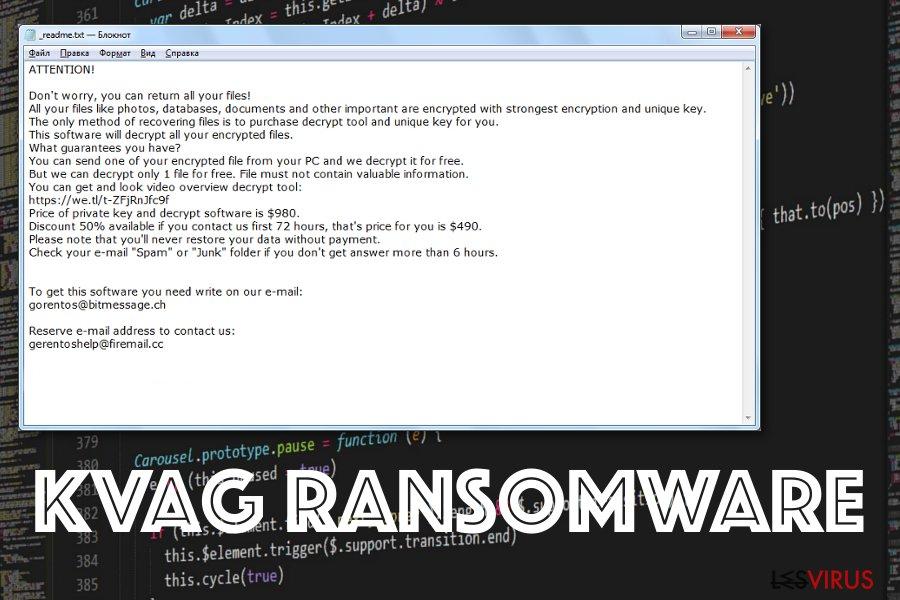 Il ransomware Kvag