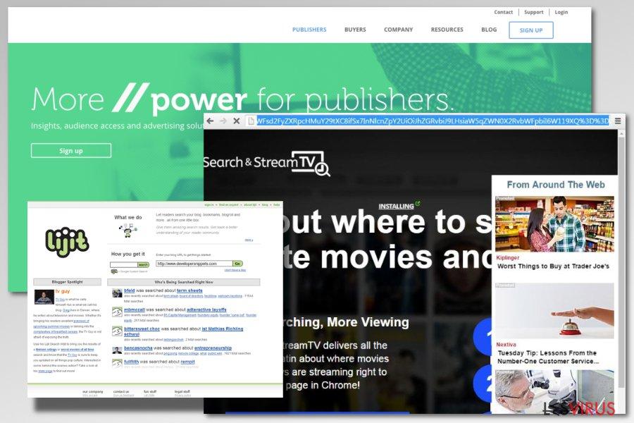 Come appare l'adware lijit.com