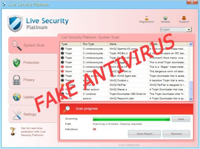 instantanea di Live Security Platinum