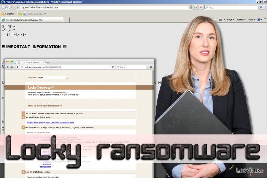 instantanea di Il ransomware Locky