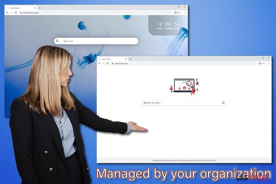 Avviso Managed by your organization [Gestito dalla tua organizzazione]