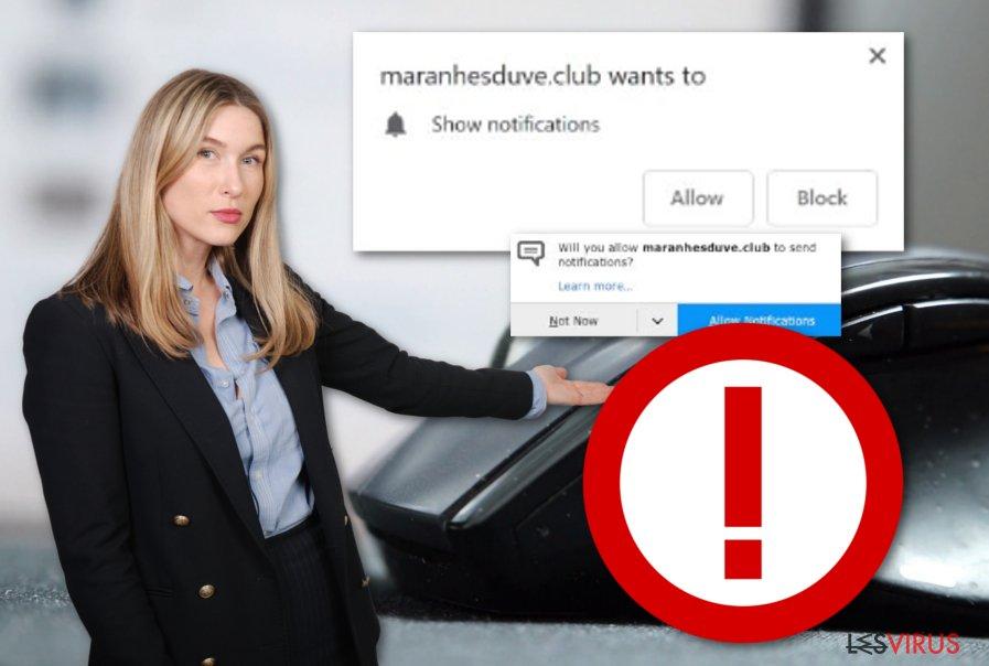 Il programma adware Maranhesduve.club
