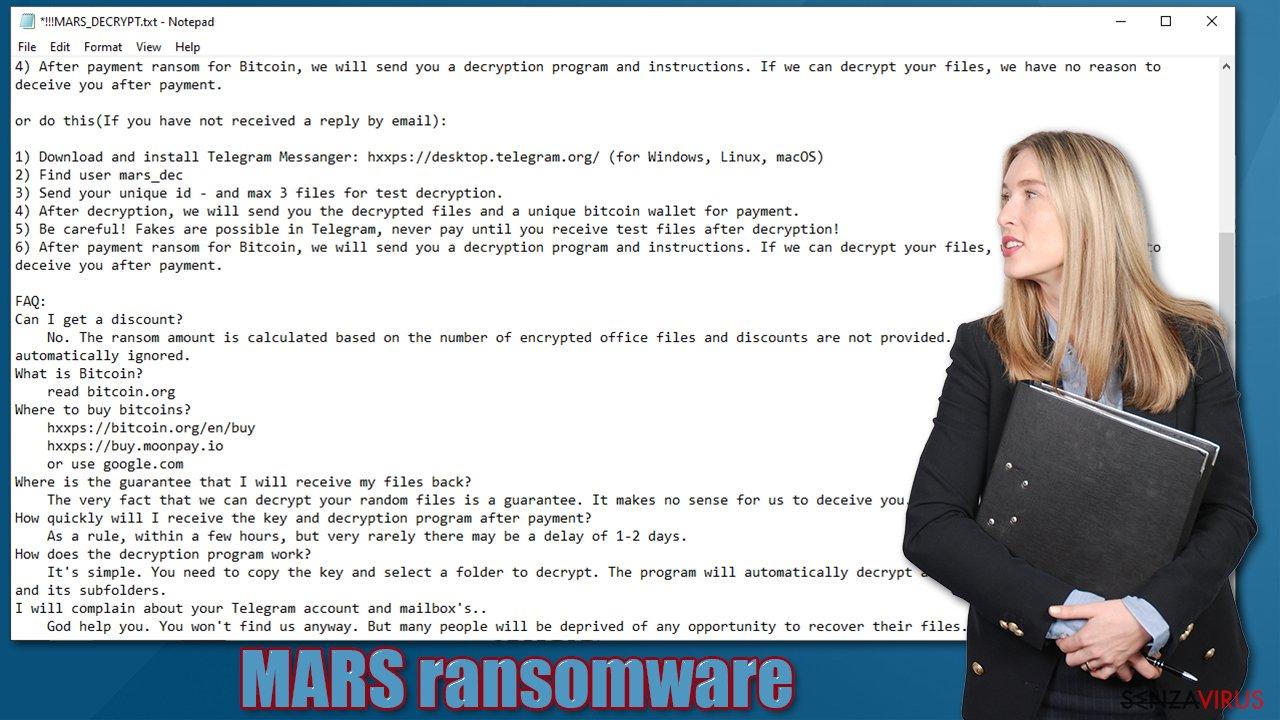 Il Virus Ransomware MARS