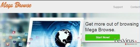 instantanea di l'adware Mega Browse