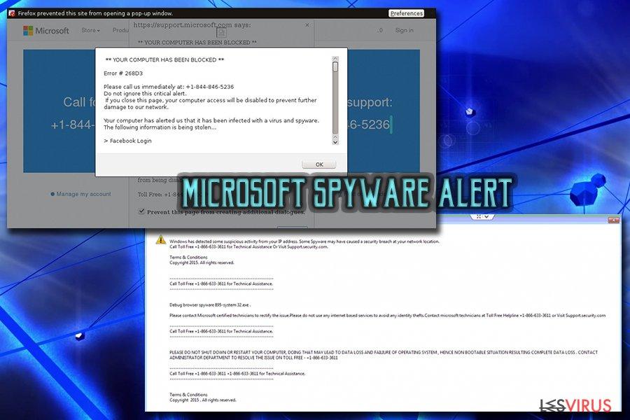 """instantanea di """"Microsoft Warning Alert"""", il virus truffa sul finto supporto tecnico"""