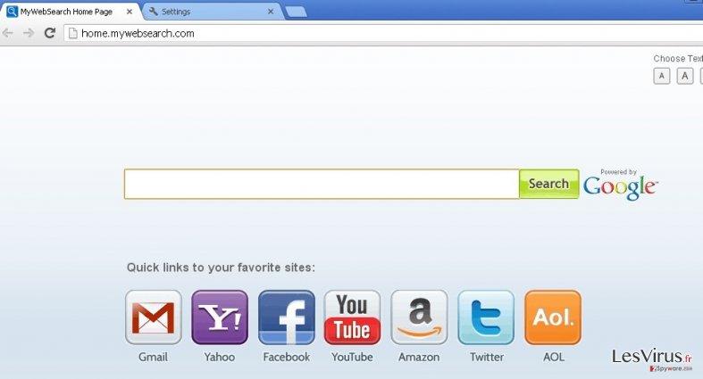 instantanea di mywebsearch.com