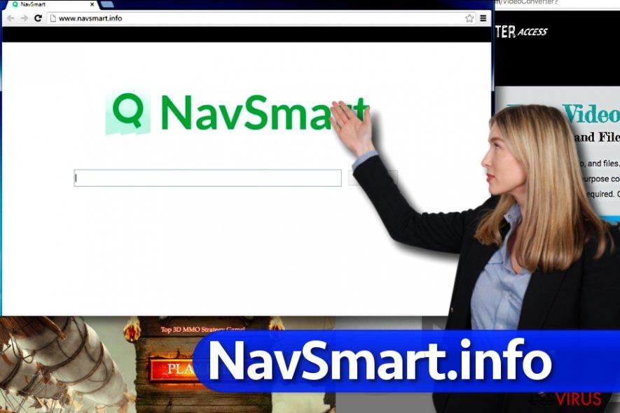 instantanea di Il virus NavSmart.info