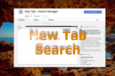 Un'immagine che mostra New Tab Search sul web store di Chrome