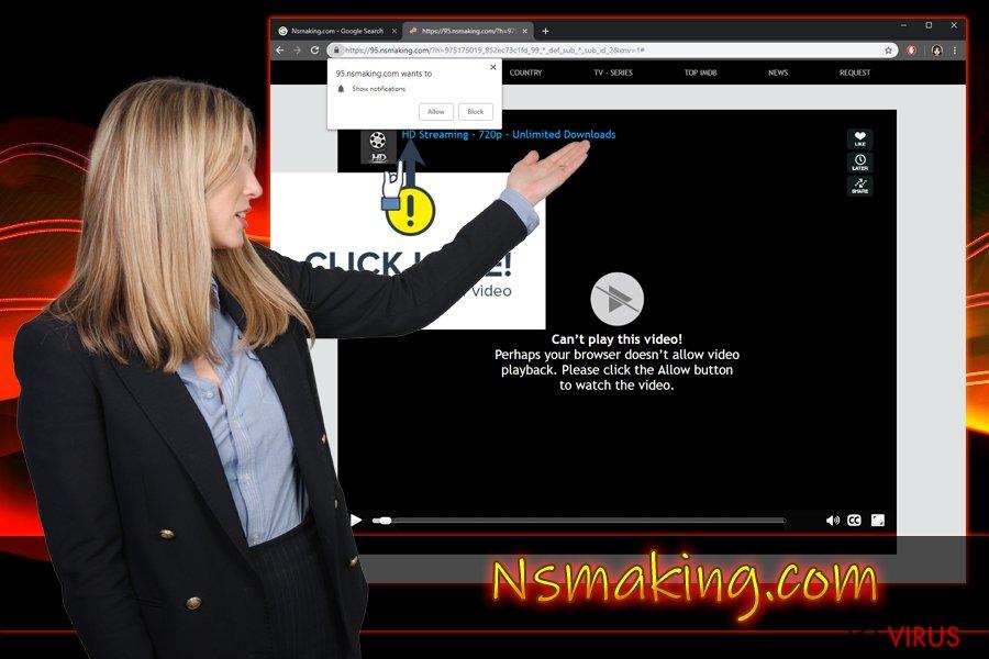 Il virus Nsmaking.com crea notifiche push