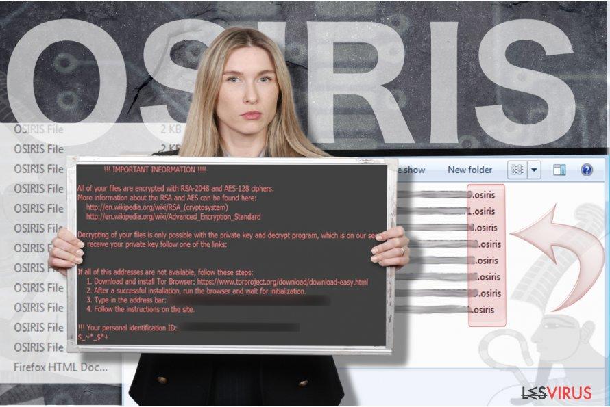 instantanea di Virus ransomware Osiris