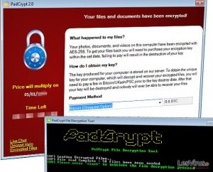 Il ransomware PadCrypt