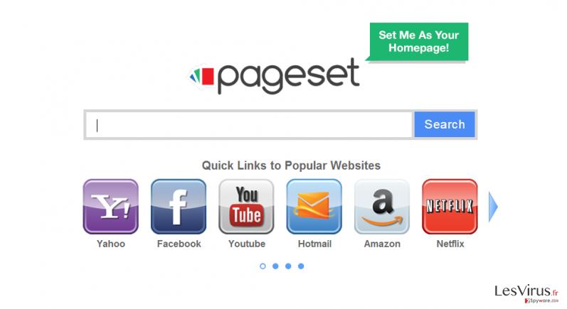 instantanea di Il virus Pageset.com