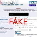 instantanea di Police Central e-crime Unit virus