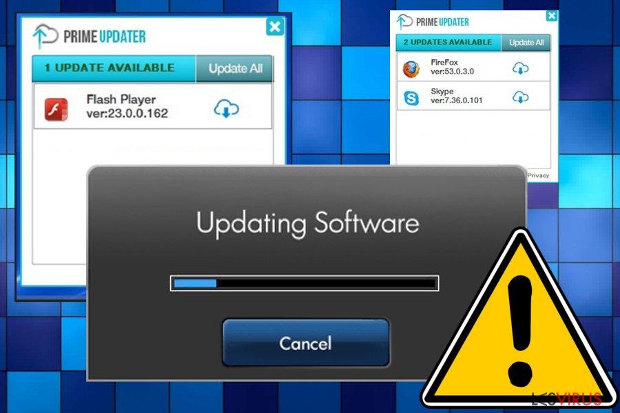 instantanea di Il virus Prime Updater