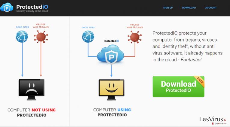 instantanea di Search.protectedio.com