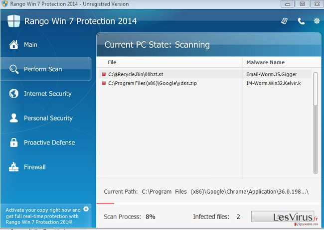 instantanea di Rango Win 7 Protection 2014