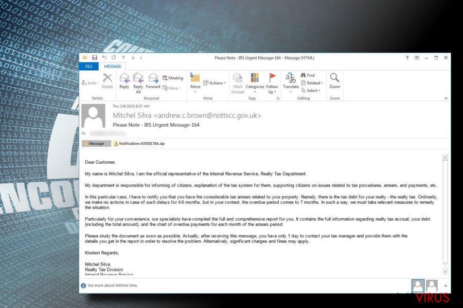 Il ransomware Rapid viene diffuso tramite lo spam