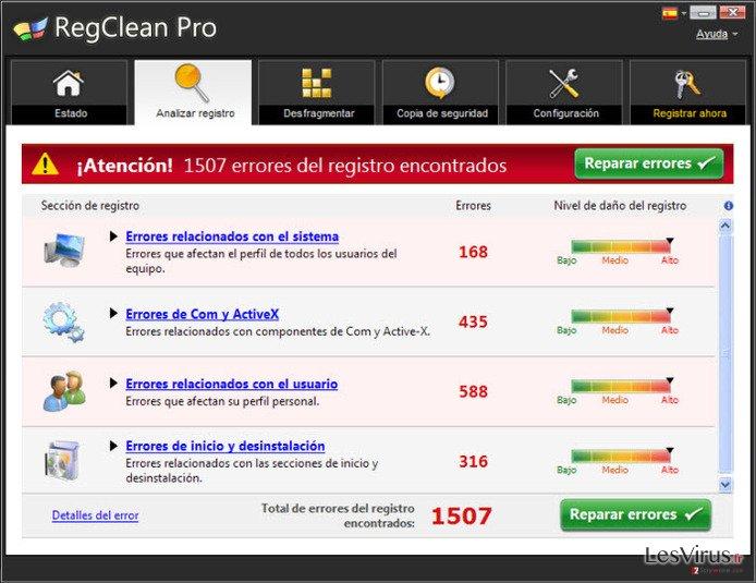 instantanea di RegClean Pro