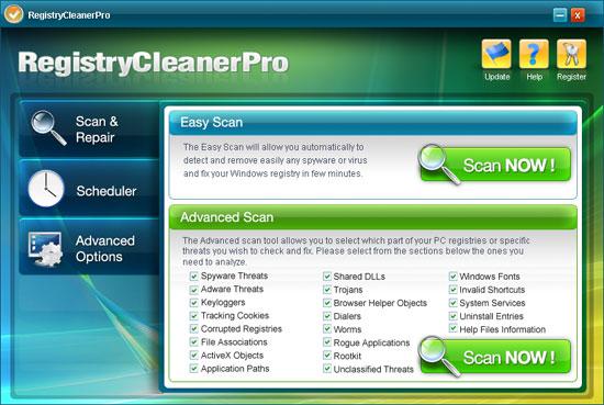 instantanea di Registry Cleaner Pro