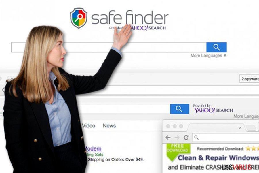 instantanea di Il virus Safe Finder