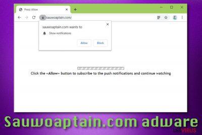 L'adware Sauwoaptain.com