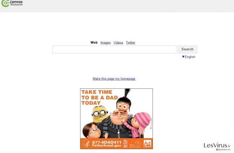 instantanea di Search.certified-toolbar.com