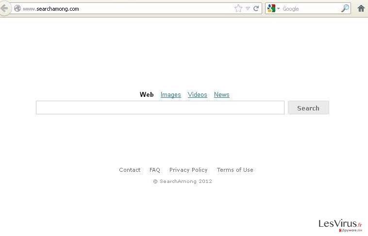 instantanea di SearchAmong.com virus