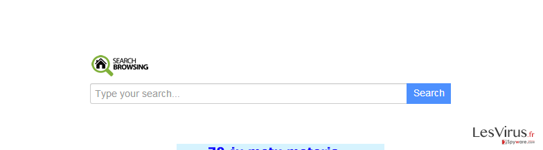 instantanea di Reindirizzamento searchbrowsing.com