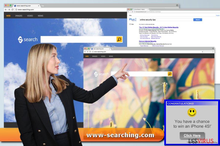 instantanea di Il virus www-searching.com