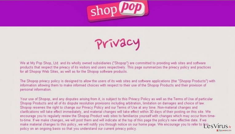 instantanea di Shopop virus