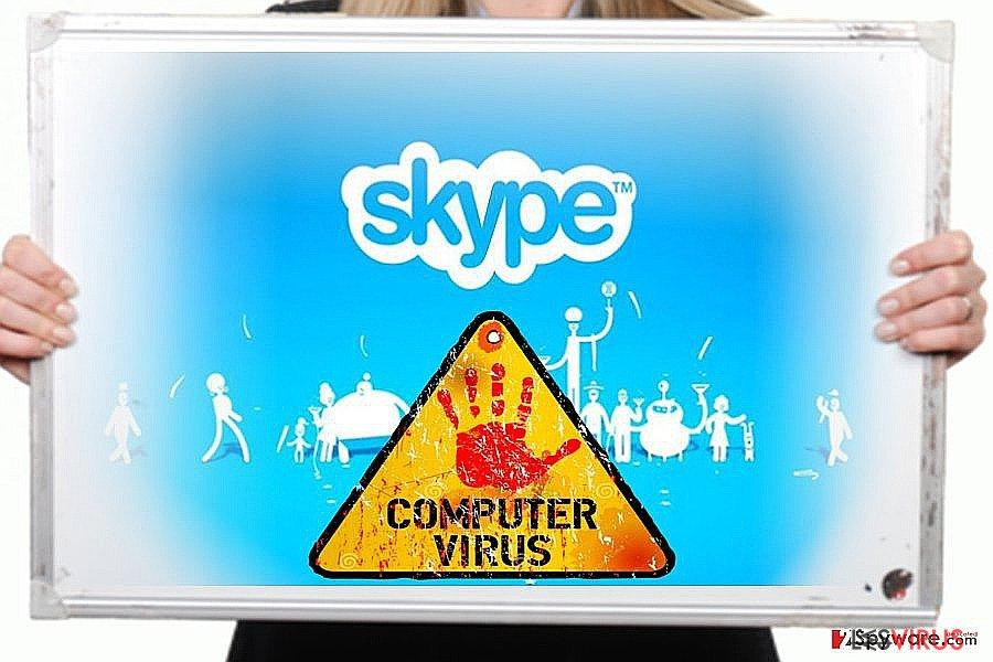 instantanea di Skype virus