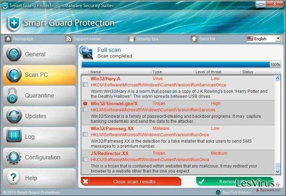instantanea di Protezione Smart Guard