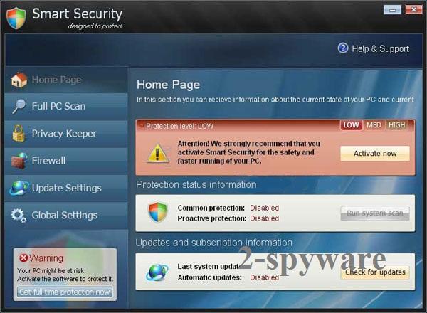 instantanea di Smart Security virus