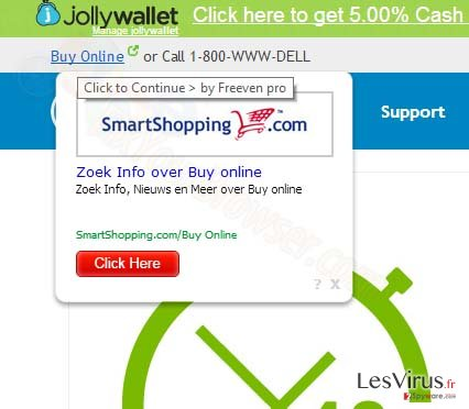 instantanea di Pop-up di annunci SmartShopping.com