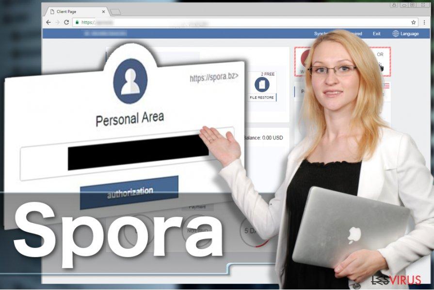 instantanea di Il virus ransomware Spora