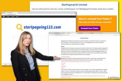 L'illustrazione del virus StartPageing123.com
