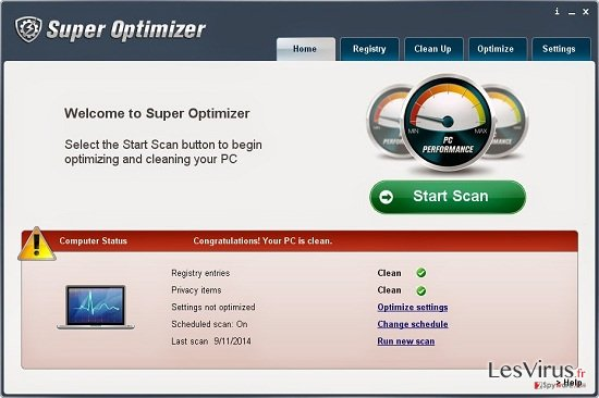 instantanea di Super Optimizer