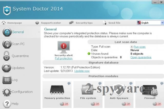 instantanea di System Doctor 2014