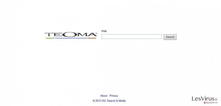 instantanea di Teoma Web Search
