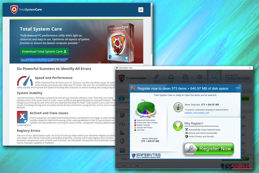 instantanea di Total System Care