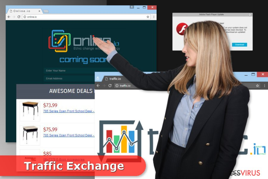 Come si presenta l'adware Traffic Exchange