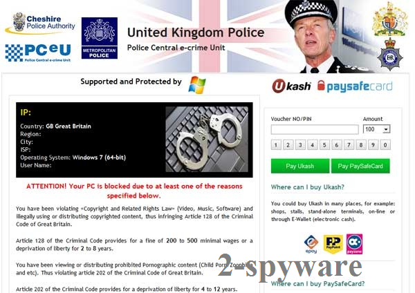 instantanea di UK Police virus