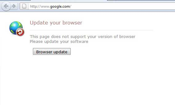 instantanea di Update your browser