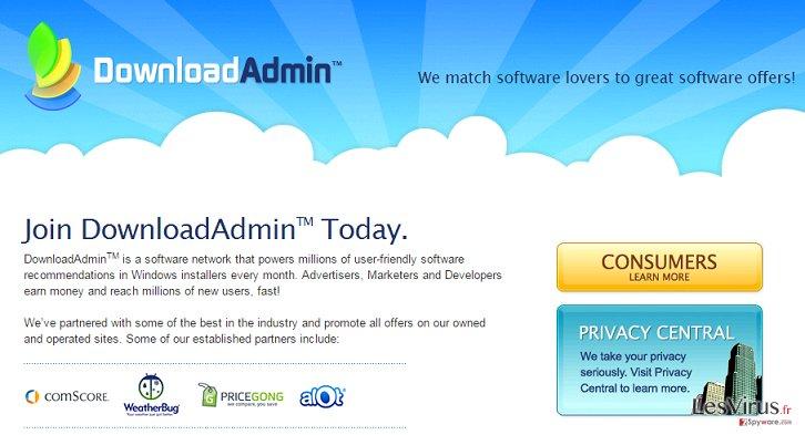 instantanea di L'adware UpdateAdmin