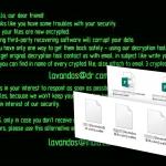 instantanea di Il virus ransomware Wallet