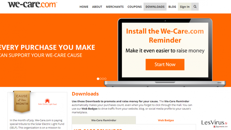 instantanea di We-care.com